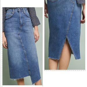 Pilcro Denim Midi Skirt Anthropologie size 4